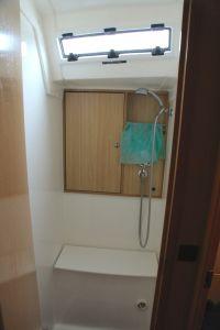 Port side shower on RBE